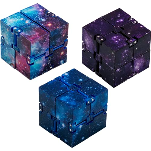 Primicity Infinity Cube 3 pcs- Fidget Cube- Infinity cube pack in 3 colours- Fidget Infinity cubes suitable for Adults and Kids- Infinity cube fidget toy for Anxiety Relief- Fidget cubes - UK Seller