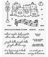 クリスマス猫DIYスクラップブッキングフォトアルバム用透明クリアシリコンスタンプシール装飾クリアスタンプA1115