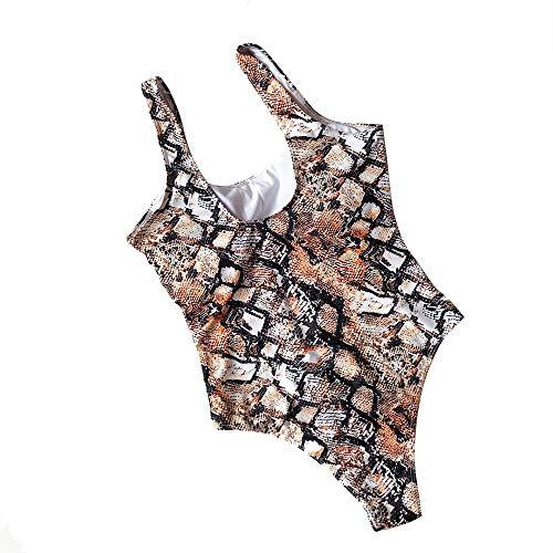 AELLE Damen Retro-Art-Badeanzug der Frauen reizvoller Bikini-Set-Leopard-Bikini-Schlange Beachwear (M, S4)