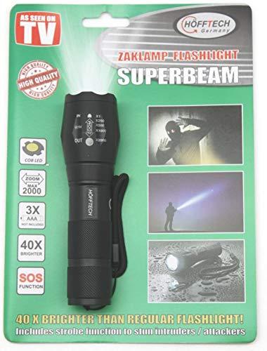 Höfftech 011637 LED Taschenlampe COB Leuchtweite bis zu 1km