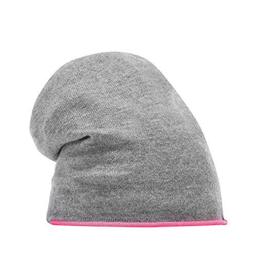 CODELLO PREMIUM Mütze Strickmütze BEANIE mit Streifen grau 82068806 (Hellgrau)