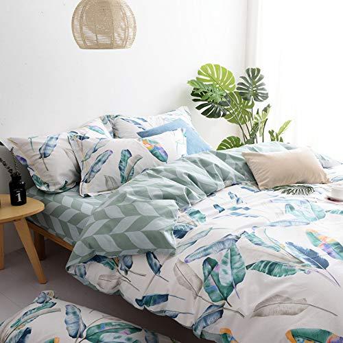 Yaonuli dekbedovertrek van katoen, 4-delig, voor tweepersoonsbed, 1,8 m, 3-delig, veren, kleur 1,8 m (6 voeten) set van vier delen