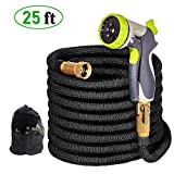 Garden Water Hose Pipe- 25FT Expandable Garden Hose, Magic Expanding Hose with 3/4""
