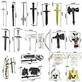 LAXI Juego de 63 piezas de armas militares, casco militar y armas, de la antigua Roma...