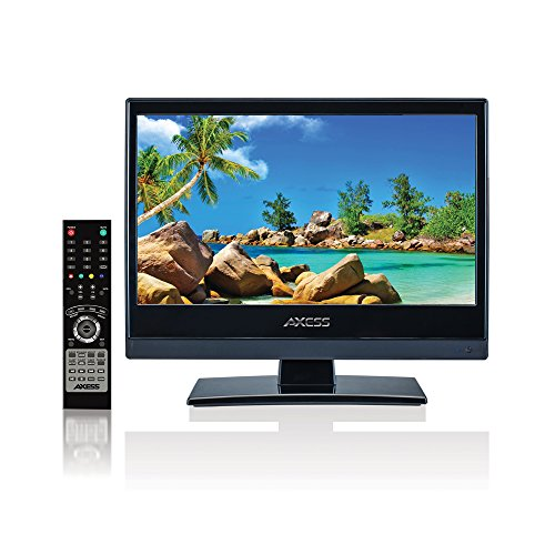 AXESS TV1703-13 13.3-Inch LED HDTV, Features 12V Car Cord Technology, VGA/HDMI/SD/USB Inputs, Built-In Digital and Analog TV Tuner, Full Function Remote