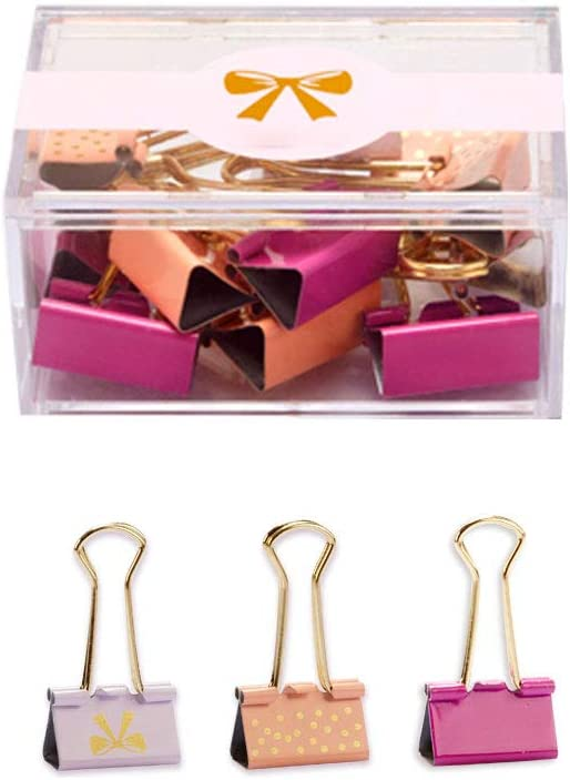 Binder Clips 12 Ranking TOP16 Pcs 25mm Paper Assorted Charlotte Mall Colors Pape