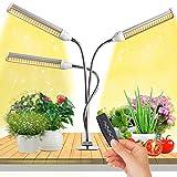 JEVDES Lámpara de Planta 150W 315 LED Planta Interior Cultivo 3 Cabezales de Espectro Completo, Planta de Luz con 3 Modos y Temporizador Automático(3H/6H/12H)