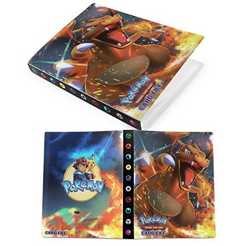 Esportic Porta Carte Pokemon,Raccoglitore Porta Carte Pokemon, Album per Carte Pokemon GX, Album Pokemon Cards GX Ex Trainer, 30 Pagine - può Contenere Fino a 240 Carte (Dark Pikachu)