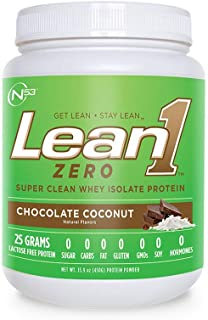 Lean1 Zero Chocolate Coconut, Pure whey Protein, 15-Serving tub