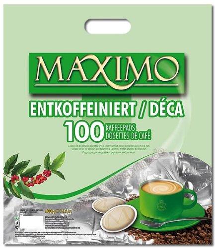 MAXIMO Kaffeepads Entkoffeiniert 100 Pads