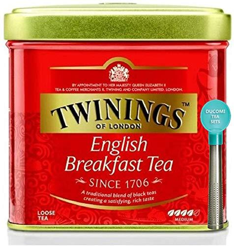 Twinings Tè Suelto - English Breakfast - Mezcla Tradicional Inglesa de Te Negro con un Sabor Intenso y Energizante - Te de Desayuno por Excelencia - Lata 100 g