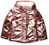 Spotted Zebra Warm Puffer Coat Infant-and-Toddler-Down-Alternative-Outerwear-Coats, Metálico Rosa, 4T