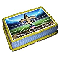 New Orleans Saints NFL Personalized Cake Topper Icing Sugar Paper 1/4 8.5 x 11.5 Inches Sheet Edible Frosting Photo Birthday Cake Topper (Best Quality Printing)