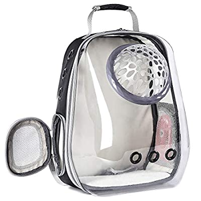 Hcupet Large Cat Carrier Backpacks, Transparent Space Capsule Bubble Extra Large Cat Carrying Backpack for Fat Kitten 28 lbs