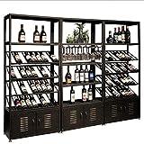 Wine Storage Rocks Floor Wine Rack Wine Glass Holder Metal Iron Wine Cabinet Wine Shelf Freestanding...