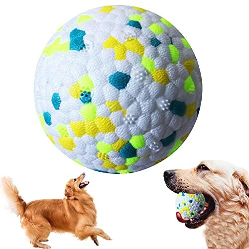 Balle Jouet pour Chien,Ballon Chien Indestructible,Jouets à mâcher pour Chiens,Dog Toys Ball pour Petits,Moyens et Grands Chiens (Vert)