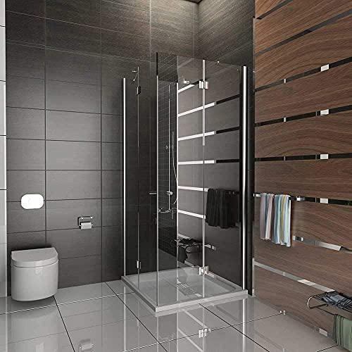 Entrada por la esquina ducha/cuadro gimnasio ducha/ducha de 100 x 200 cm aprox/marco para cabina de ducha/alpen Berger/modelo Quadri Clear/cabina de ducha de cristal de seguridad