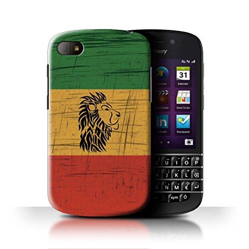 Stuff4® Hülle/Hülle für BlackBerry Q10 / Löwenkopf Muster/Rasta Reggae Kunst Kollektion