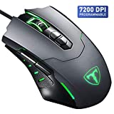Gaming Mouse【7200 DPI & 7 Programmable Buttons】VicTsing Professional Wired Mouse, Comfortable Full Size