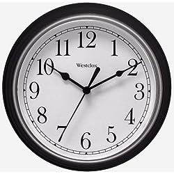46991A New! WESTCLOX Black 8-1/2 Quartz Wall Clock Battery Operated Home Office