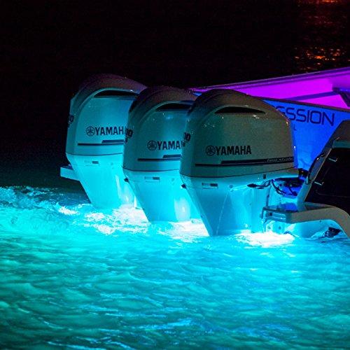 Lumitec SeaBlazeX LED Underwater Boat Light, Surface Mount, Strobe, Cross Fade