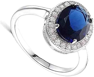 4068a3f87 SHYAMKRIPA GEMS 9.25 Ratti Blue Sapphire Sterling Silver Adjustable Ring  for Men and Women