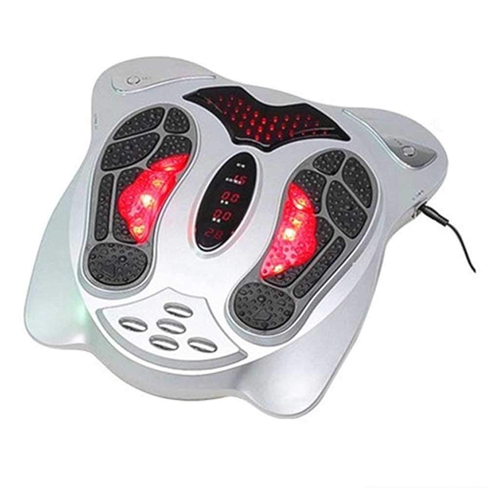 砦望む関数血液循環を促進リモートコントロールフットマッサージャー電気脚低周波パルス鍼マッサージャー低周波健康療法機器インテリジェント、シルバー