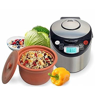 VitaClay VM7900-8 Smart Organic Multi-Cooker- A Rice Cooker, A Slow Cooker, A Digital Steamer plus a bonus Yogurt Maker, 8 Cup/4.2-Quart