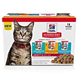 Hill's Science Diet Wet Cat Food Pouches Variety, Adult, 2.8 oz Pouch, 12 Pack