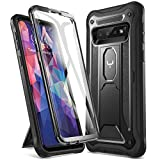 YOUMAKER Case for Galaxy S10, Kickstand Case with Built-in Screen Protector Heavy Duty Protection Shockproof Full Body Slim Fit Cover for Samsung Galaxy S10 6.1 inch - Black