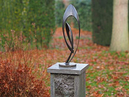 H. Packmor GmbH Sculpture en bronze - Petite sculpture moderne pour la maison et le jardin - 13 x 45 x 13 cm