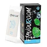 Flavouroom - Kit Premium de 25 tarjetas de menta fresca | Tarjeta de menta para un sabor inolvidable | Incl. caja para guardar la tarjeta aromatizada