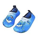 HMIYA Chaussures Aquatiques Enfants Filles Garçons Pieds Nus à séchage Rapide Chaussures d'eau pour Plage Piscine Surf Sport Aquatique(Bleu 18 19)