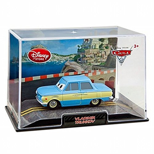 3 car Set!! Disney Store 1:43 Scale Vladimir TRUNKOV, GREM and ACER in Display Cases! Long Sold Out!