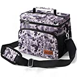 Insulated Lunch Bag for Men & Women - Adult Lunch Box for Office Work School Picnic Beach - Leakproof Cooler Tote Bag Reusable Freezable Lunch Container Bag with Adjustable Shoulder Strap for Kid