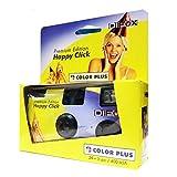 DIFOX Color Plus Premium Edition Happy Click- cámara desechable, con flash, 400 ASA, 24+3