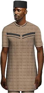 Men Shirts 3 Pieces Suits Dashiki top+ Pants+ hat West Africa Agbada Jacquard Arab Thobe Islamic Muslim Dubai