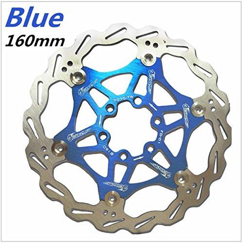Snail Fahrrad MTB DH Bremse Float Bremsscheiben Kettenblatt 160mm 6 (Blau)