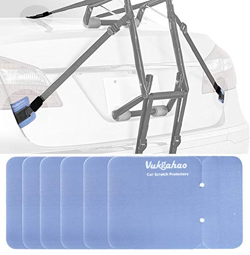 Vukgahao Car Scratch Protectors for Trunk Bike Rack,to Avoid Car Paint Scratch from Metal Hooks/Ratchets/Tie Buckles/RV Straps -(6 Pack) Black
