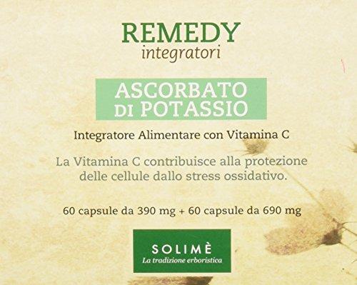 Ascorbato di Potassio Integratore di vitamina C in capsule 60 + 60 capsule - Prodotto erboristico made in Italy