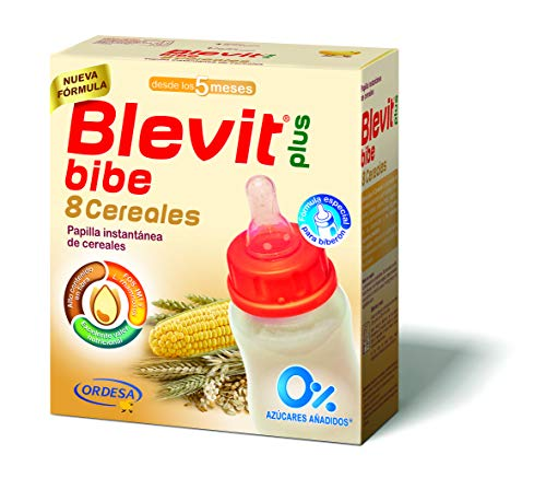Blevit Plus 8 Cereales Para Biberón, 1 unidad 600 gr. A partir de los 5 meses.
