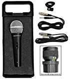 Rockville High-End Metal DJ Handheld Wired Microphone Mic w (2) Cables (RMC-XLR)