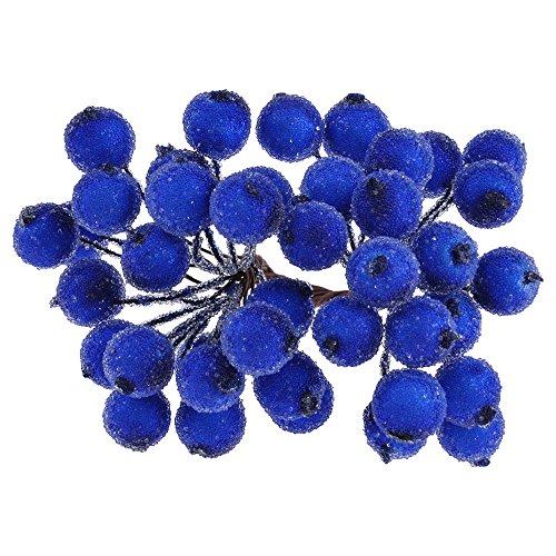 Mini Weihnachten Dekoration Künstliche Frucht Beere Holly Blumen Wie Echt 6 Farben Blau