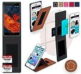 reboon Hülle für Meizu Pro 6S Tasche Cover Case Bumper | Braun Leder | Testsieger