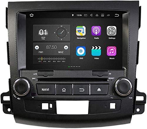 LINGJIE Navegación GPS para Mitsubishi Outlander (2006-2013), Android 7.1 OS 8 Pulgadas Pantalla táctil de 8 Pulgadas Player DVD Radio Bluetooth Unidad de Cabeza