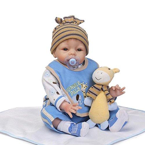 iCradle Muñecas 22Inch 55cm Simulación Reborn Baby Girl Muñecas Spleeping Vinilo de Silicona Suave Bebe Reborn Girl Doll Juguetes para niños