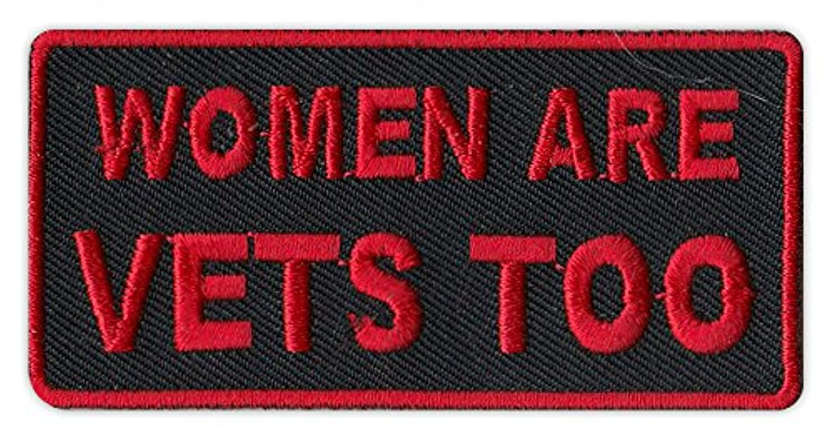 Motorcycle Biker Jacket/Vest Embroidered Patch - Women Are Vets Too - Veterans, Support, Military