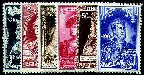 Goldhahn Deutsche Besetzung Belgien Fl sche Legion Nr. IX-XIV postfrisch- Briefürken für Sammler