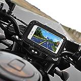 Rupse Motorrad Handyhalterung, Wasserdicht Motorrad Halterung 360°drehbar mit Touch-Screen GPS...