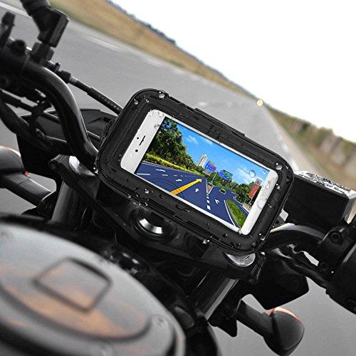 """Rupse Motorrad Handyhalterung, Wasserdicht Motorrad Halterung 360°drehbar mit Touch-Screen GPS Oberrohrtasche Handytasche Fahrrad, Motorrad Tasche Halterung für Smartphone bis zu 5\"""""""
